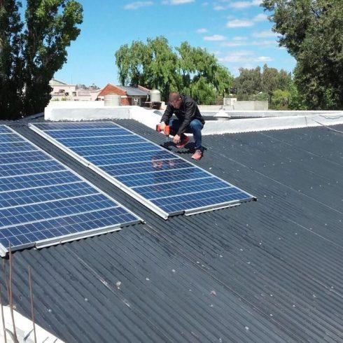 casa con energía solar en Puerto Madryn