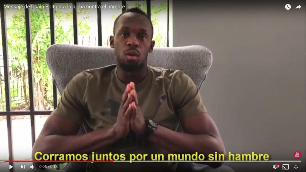 Usain Bolt pidió correr por un mundo sin hambre