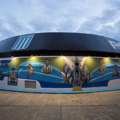Mural urbano del Racing Club de Avellaneda