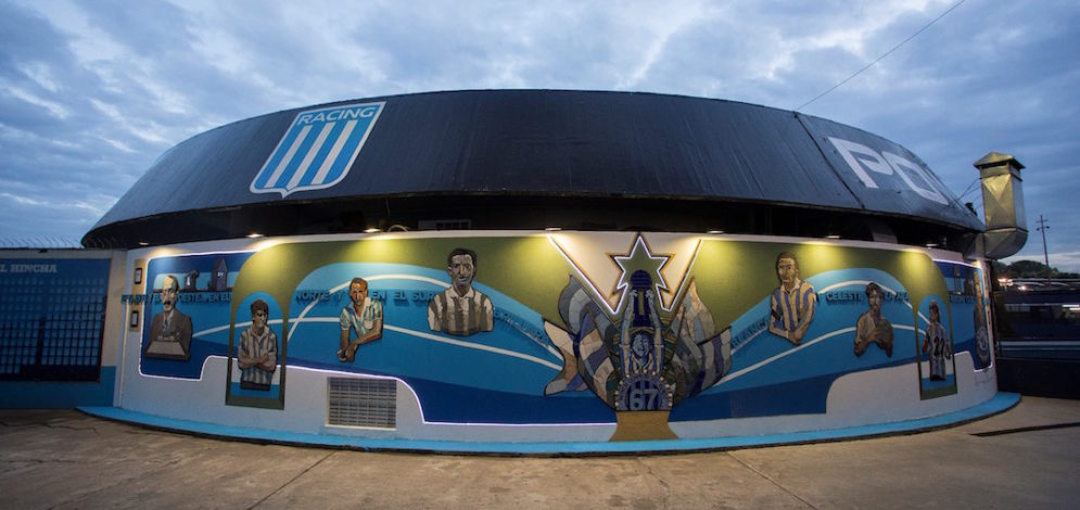Mural urbano del Racing Club de Avellaneda