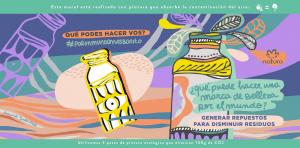 Natura y sus murales ambientales ayudan a reducir la contaminación urbana en las ciudades de Buenos Aires y Rosario