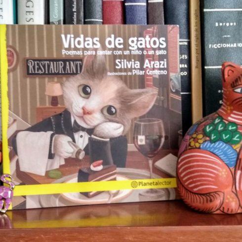 Vidas de gatos, el nuevo libro de poemas para chicos de Silvia Arazi, editado por Planeta Lector