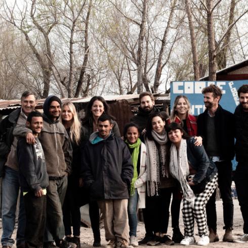 Milagros Mayling, equipo y miembros de la Cooperativa Juntos Podemos