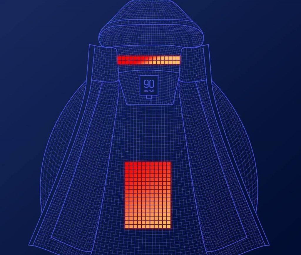 Campera con sistema de calefacción, de tecnología china, ideal para esquiadores y andinistas