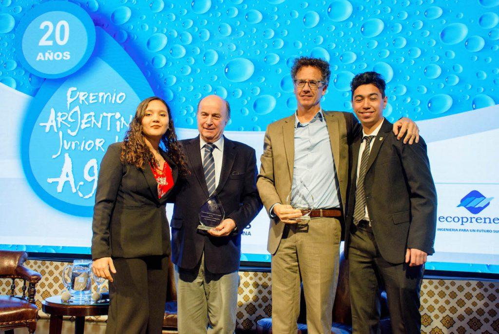 El Premio Argentino Junior del Agua, impulsado por AySA y Aidis