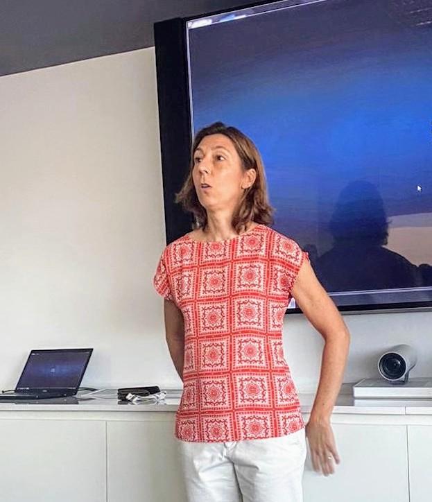 Clara Mendiberri, directora del Centro de Servicios del JP Morgan Argentina
