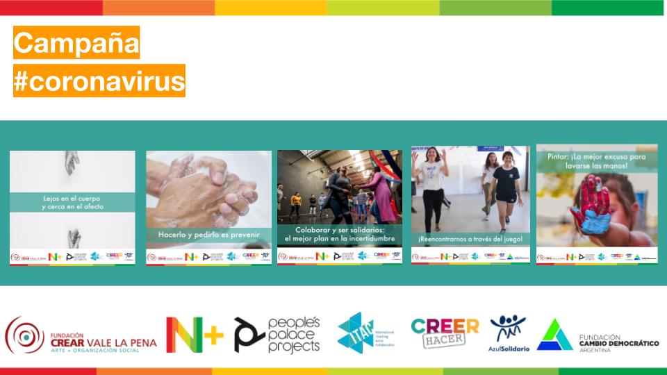 La campaña de N+ Y Crear vale la Pena junto con otras entidades, para estar cerca aun en la lejanía de los cuerpos, contra el coronavirus