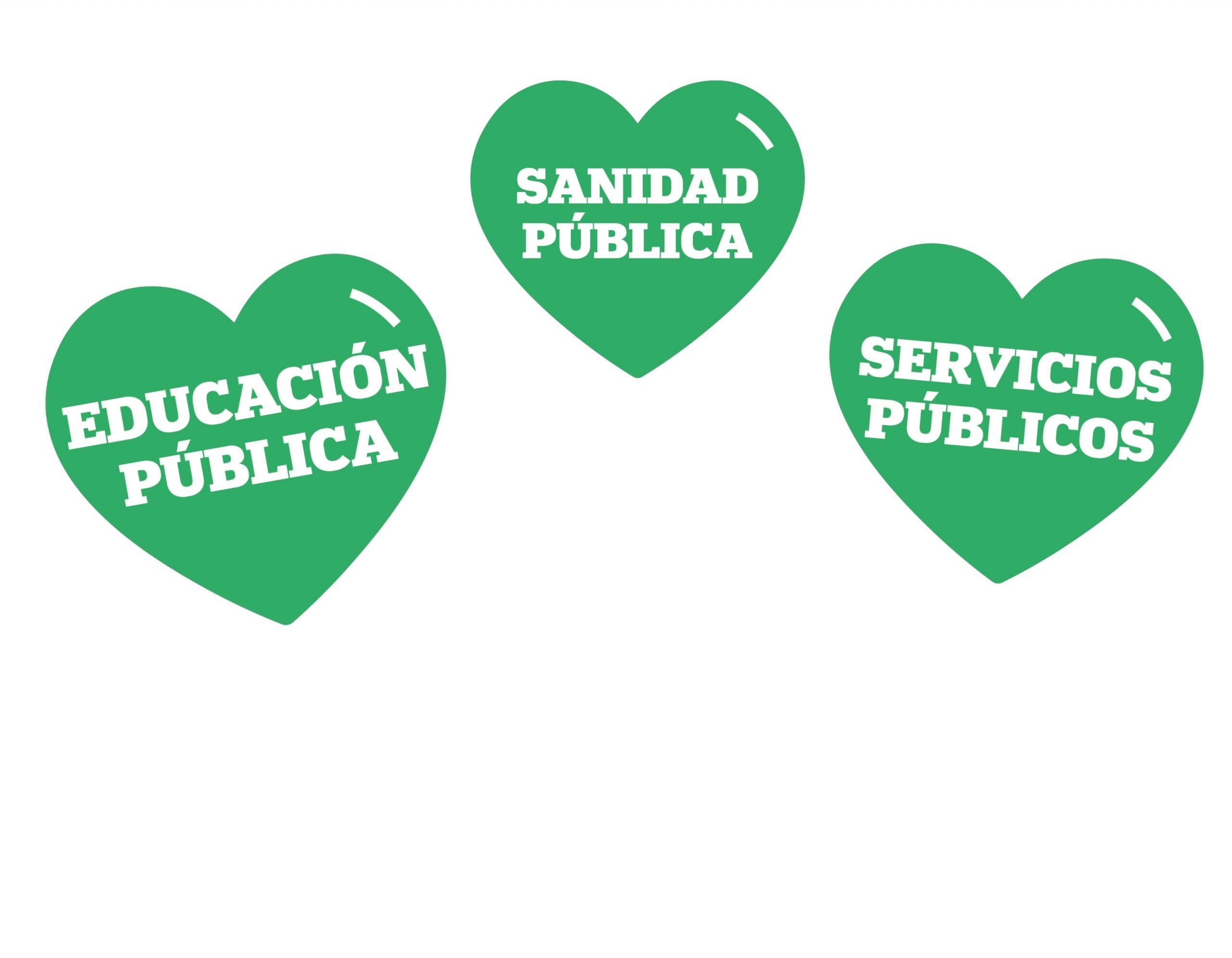 Pinto un corazón verde, una campaña ciudadana para reforzar la sanidad pública en España