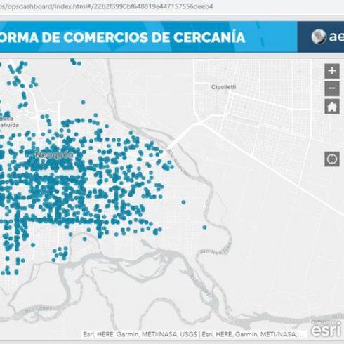 """""""Más Cerca"""", el portal digital que la Ciudad de Neuquén creó, con el apoyo de Aeroterra, para poner a los vecinos al tanto de los comercios de cercanía"""