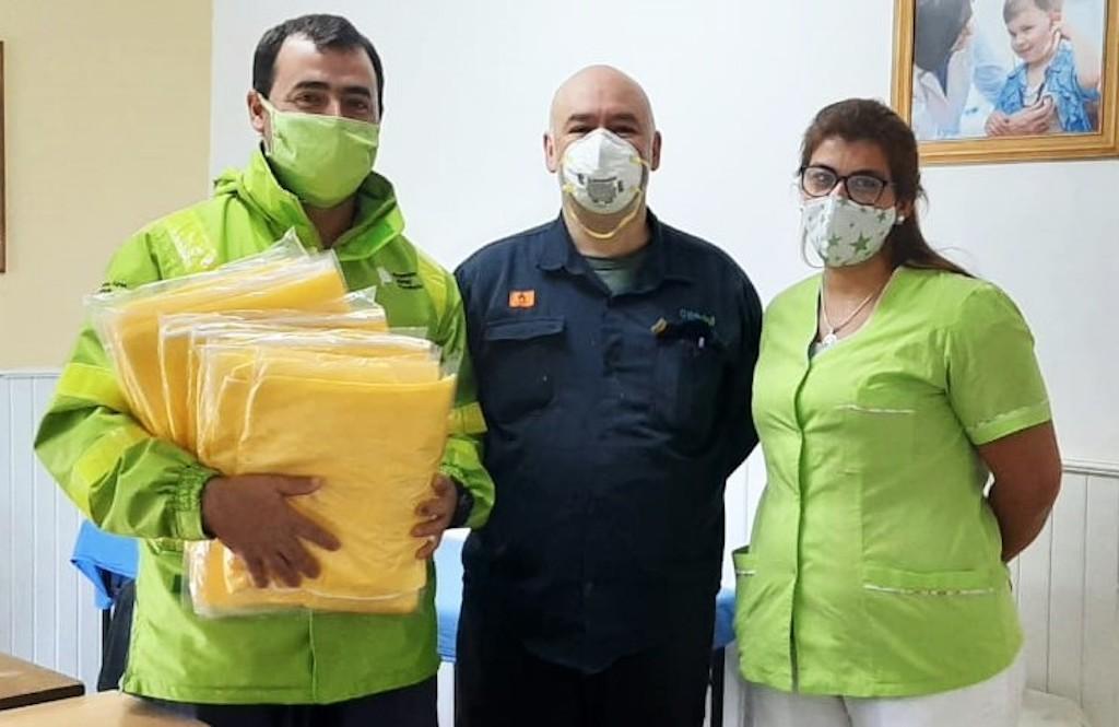 Genneia entregó donaciones de equipos para enfrentar el Covid-19 a comunidades cercanas a sus centros de generación