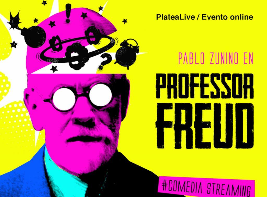"""Pablo Zunino y su obra """"Professor Freud"""" en streaming, estreno mundial"""