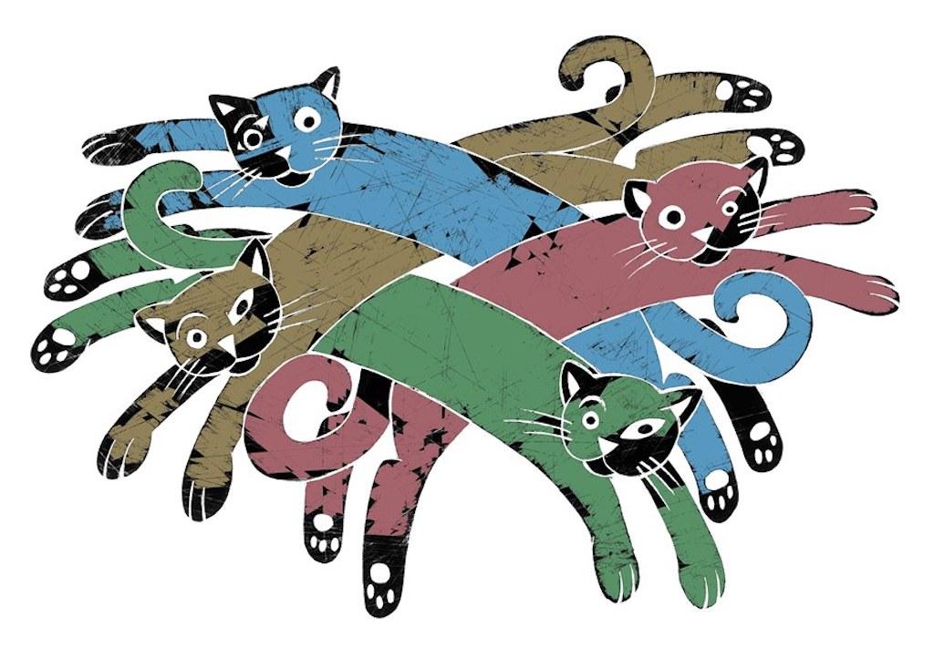 La Fundación Cuatrogatos y cómo la ven los ilustradores; aquí, un dibujo de Fabricio Vanden Broeck, de México