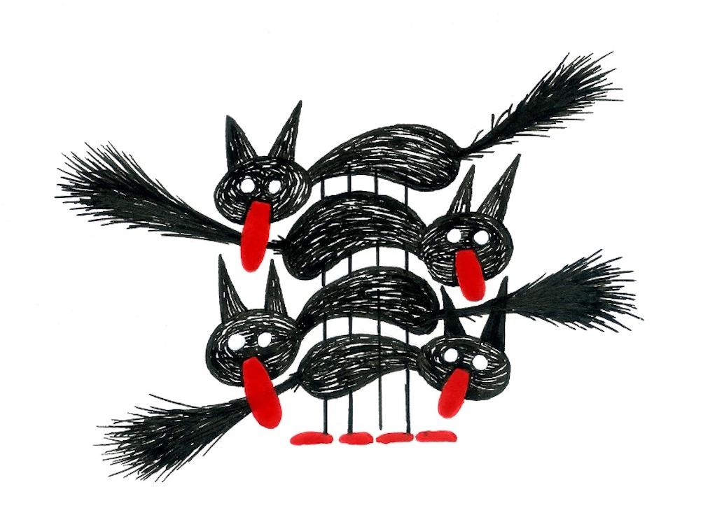 La Fundación Cuatrogatos, según la mirada de los ilustradores, como Gustavo Roldán de la Argentina