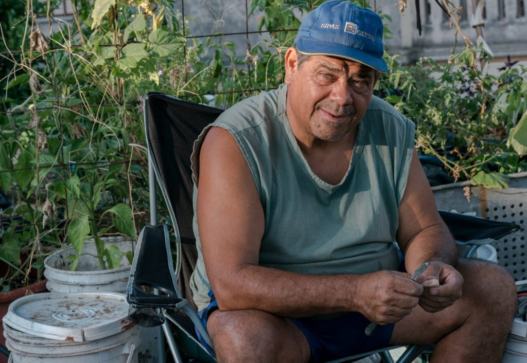 Carlos Briganti, fundador de Acción Huerta Urbana