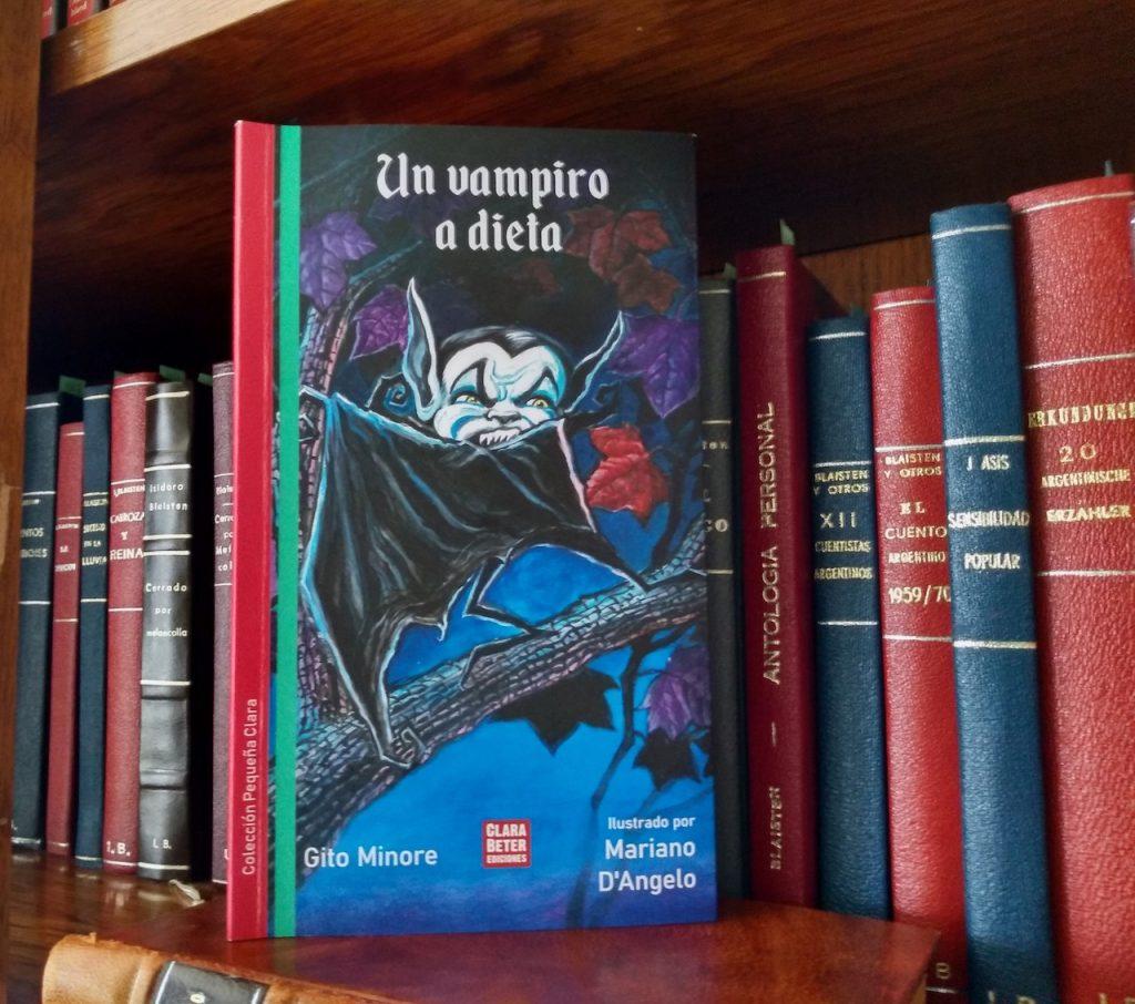 Un vampiro a dieta, de Gito Minore (Clara Beter Ediciones) trae la tradición a la porteña Plaza de Mayo
