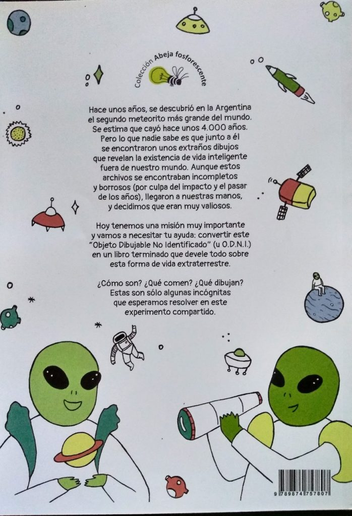 La editorial Muchas Nueces publica ODNI, un libro de Angie Juanto, para colorear, dibujar e imaginar la vida más allá de la Tierra