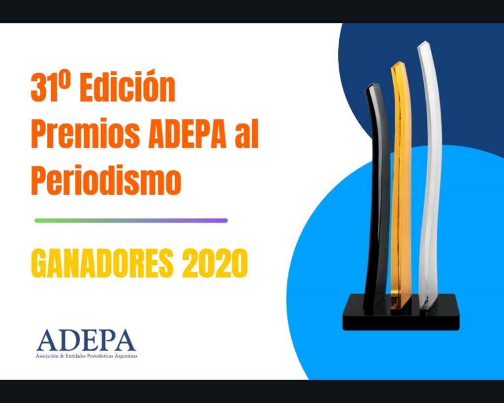 Ganadores 2020 de los Premios Adepa al periodismo