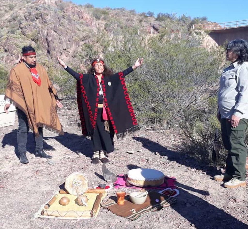 Ceremonia ancestral huarpe, para liberar a los cóndores andinos en la provincia de San Juan