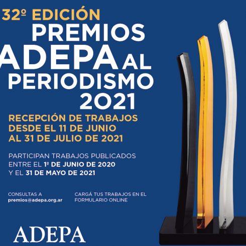 Los Premios ADEPA al Periodismo 2021 ya abrieron la inscripción