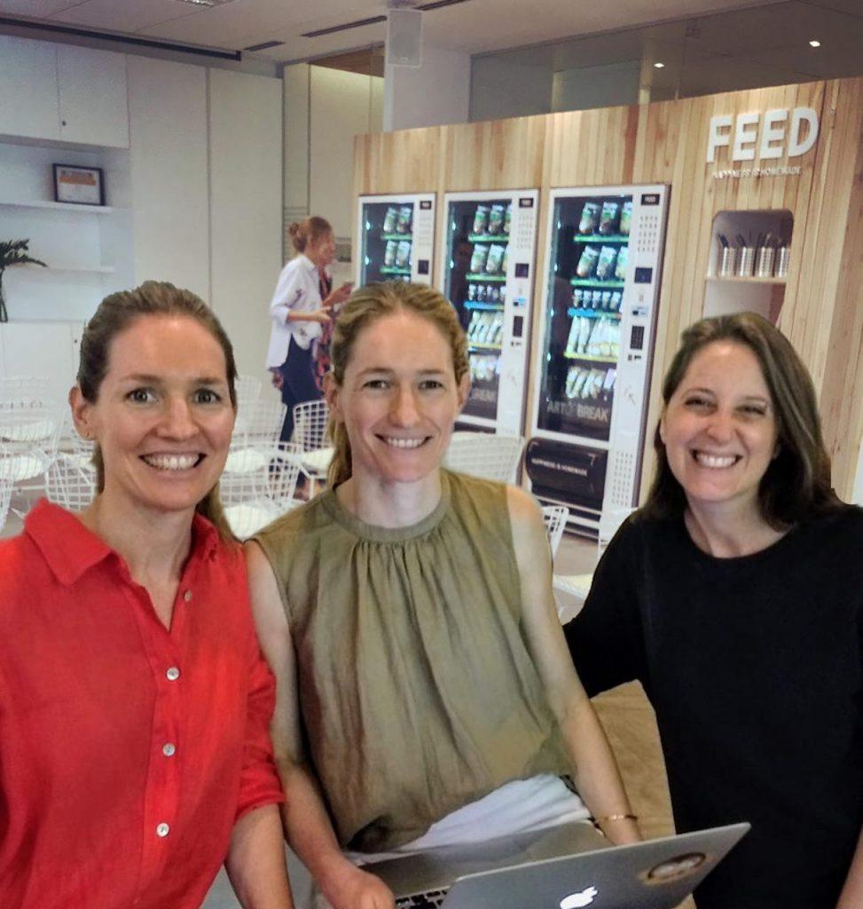Las tres fundadoras de la empresa FEED, que se suma ahora a la Comunidad B
