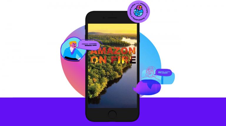 Amazona en Llamas, una experiencia interactiva educativa para concientizar a los jóvenes sobre el cambio climático